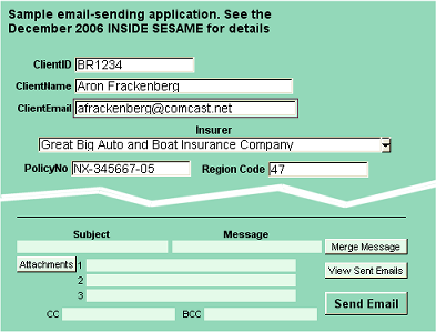 Sample working application that comes with Email-It